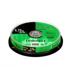 Intenso 4101152 DVD Recordable Media - DVD-R - 16x - 4.70 GB - 10 Pack Spindle - 120mm