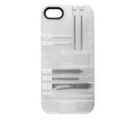 IN1 Case for iPhone 5/5s CLEAR CASE / WHITE TOOLS