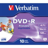 Verbatim DVDR/4.7GB 16x AdvAZO JC 10pk Photo Printable