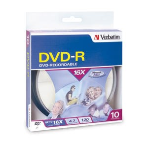 Verbatim 10PK 4.7GB 16X DVD-R Spindle