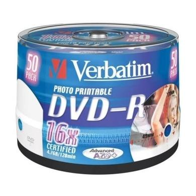 Verbatim DVD-R 4.7GB 16 Speed 50 pack Spindle Printable