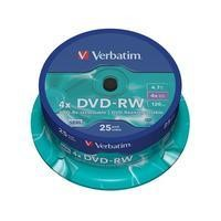 Verbatim DVD-RW 4.7GB 25pk Spindle