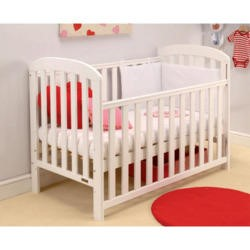 East Coast Anna Dropside Cot in White