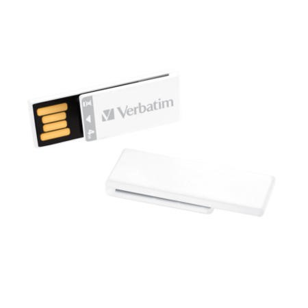 Verbatim 43902 Clip-it 2GB USB Memory Stick - White