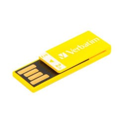 Verbatim 43904 Clip-it 2GB USB Memory Stick - Yellow