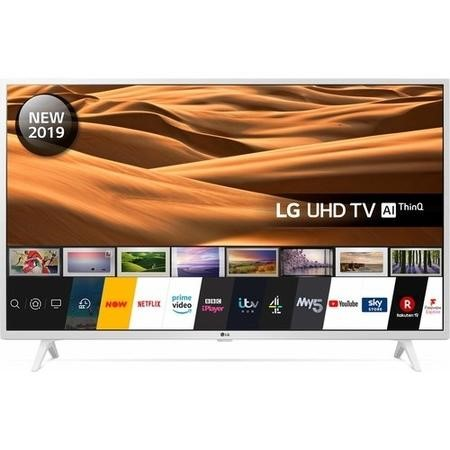 "LG 43UM7390PLC 43"" 4K Ultra HD Smart HDR LED TV with Freeview HD and Freesat - White"