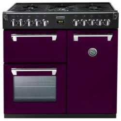 Stoves Richmond 900DFT Colour Boutique 90cm Dual Fuel Range Cooker in Wild Berry