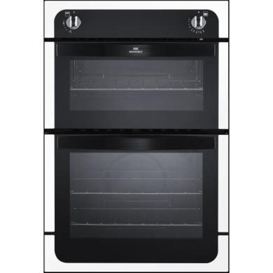 New World NW901G Gas Built In Double Cavity Oven - White