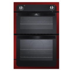 New World NW901DO Electric Built In Double Oven - Metallic Red
