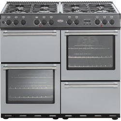 Belling Country Classic 100cm Dual Fuel Range Cooker - Silver