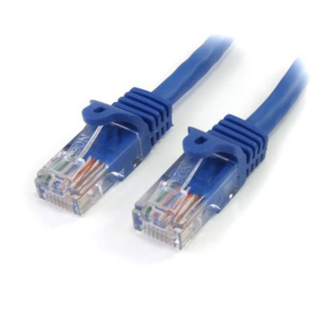 StarTech.com 15 m Cat5e Blue Snagless RJ45 UTP Cat 5e Patch Cable - 15m Patch Cord