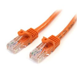 StarTech.com 3 ft Cat5e Orange Snagless RJ45 UTP Cat 5e Patch Cable - 3ft Patch Cord