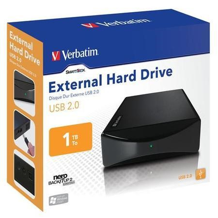 Verbatim 1TB USB 2.0 External Hard Drive - Black