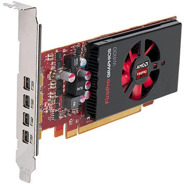 dell AMD FirePro W4100 2 GB 4 DP 4 mDP-DP adapters