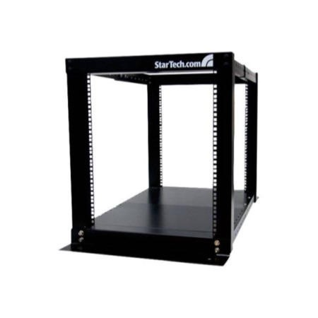 12U Adjustable 4 Post Open Server Equipment Rack