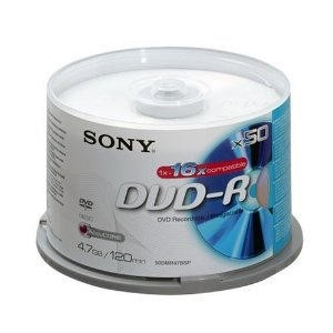 DVD-R  16X  Spindle-BULK 50PCS  Blank Disks