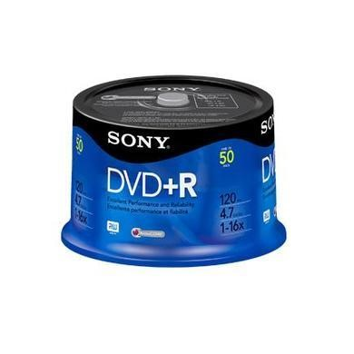DVDR 4.7GB Spindle 16x 50pk Bulk