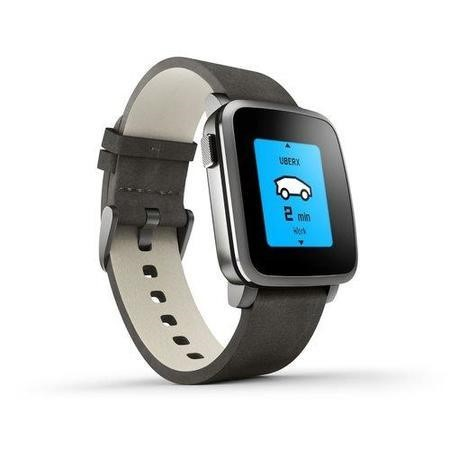 Pebble Time Steel Smartwatch Black