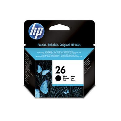HP No.26 Black Ink Cartridge
