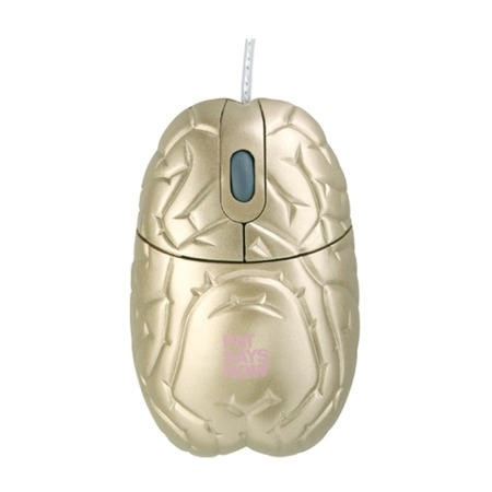 Pat Says Now Brain Limited Edition Gold USB Mouse