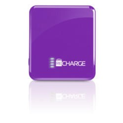 Techlink Recharge Li-polymer Portable Battery USB Charger 2500mAh Purple