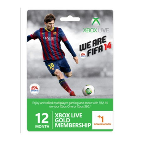 XBox Live 13 Month Membership - Fifa Branded