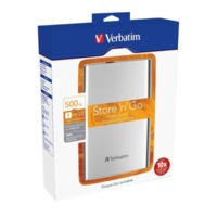 "Verbatim 500GB USB 3.0 2.5"" Portable Hard Drive - White"