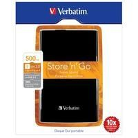 "Verbatim 2.5"" 500GB USB 3.0 Portable Hard Drive - Black"