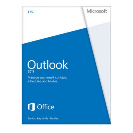 Microsoft Outlook 2013 32-bit/64-bit English Medialess Licence