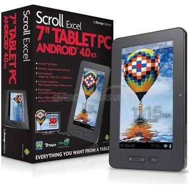 "Storage Options Scroll Excel 7"" Capacitive Android 4 Tablet in Black"