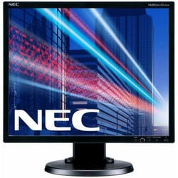 NEC 19 INCH Black LCD monitor with LED backlight  IPS panel  resolution 1280x1024  VGA  DVI  DisplayPort  110 mm