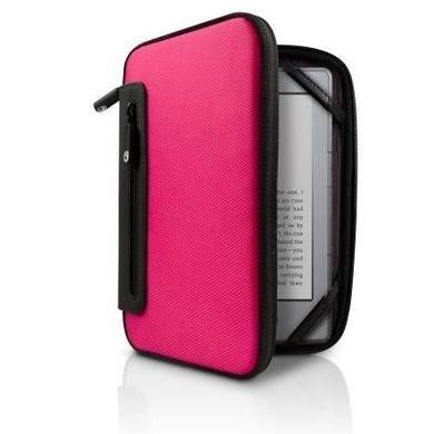 Jurni Nylon Case  for Kindle & Kindle Touch - Pink/Black