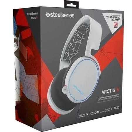 Steelseries Arctis 5 USB Gaming Headset in White