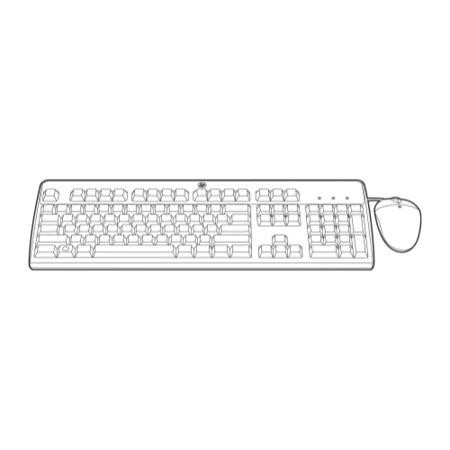 Hewlett Packard HP USB BFR with PVC Free UK Keyboard/Mouse Kit