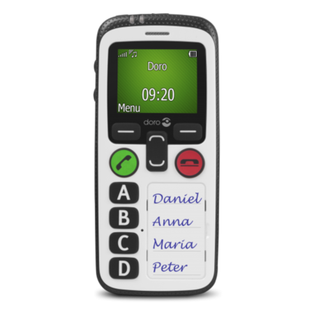 6519 Doro Secure 580IUP White 3G SIM Free - Elderly and Vunerable Friendly with GPS Tracking - Hearing Aid Compatible - Fall User Protection