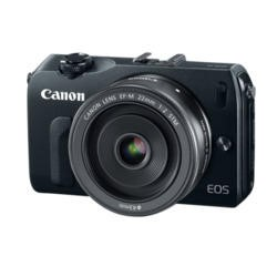 Canon EOS M 18MP Digital SLR Camera with EF-M 22MM - Black