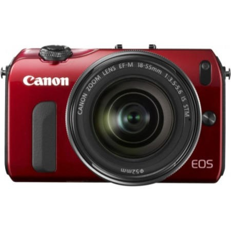 Canon EOS M 18MP Digital SLR Camera with EF-M 18-55MM - Red
