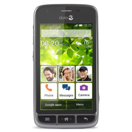 "6707 Doro Liberto 820 Mini Black/Steel 4"" 4GB 3G Unlocked & SIM Free"