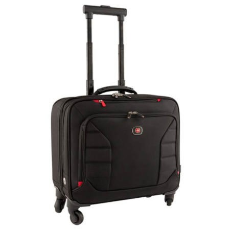 "Interchange 17"" Deluxe Wheeled Laptop Brief with Overnight compartment"
