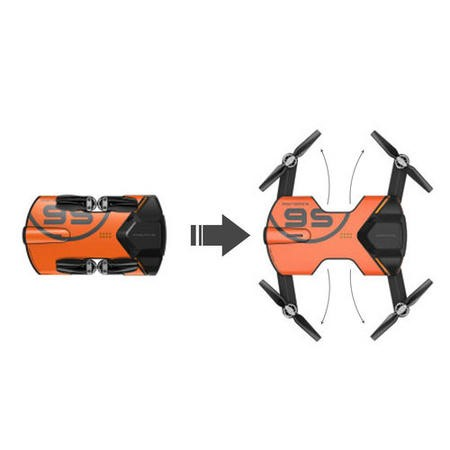 Wingsland S6 4K Foldable Pocket Sized Camera Drone - Orange