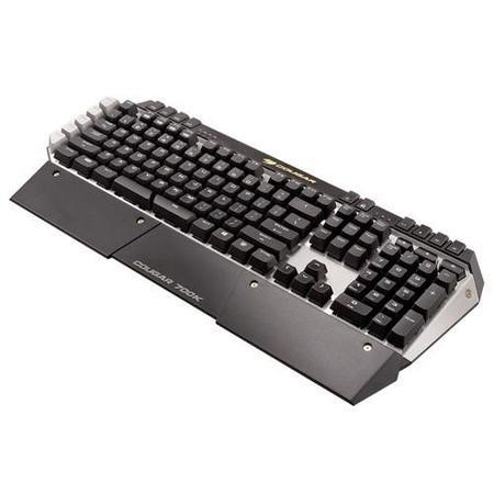 Cougar 700K Gaming Keyboard LED Backlit Red Cherry MX Keys 3 Profiles Aluminum Brushed Retail