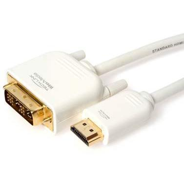 Wires Media - 2.0m DVI socket to HDMI A plug - White