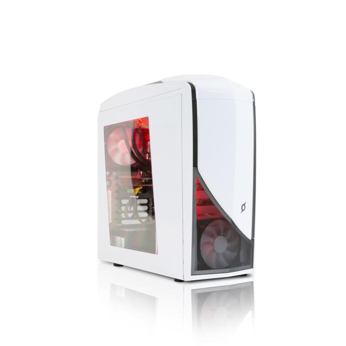 StormForce Glacier AMD Ryzen 5 1500X 8GB 2TB + 128GB SSD GeForce GTX 1060  DVD-RW Windows 10 Gaming Desktop