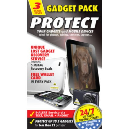 MyTAG Gadget Pack Protect with 5 Security Seals - 3 Years Cover