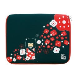 "Pat Says Now 14""-15.6"" Laptop Sleeve - Kokeshi"