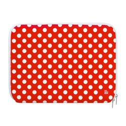 "Pat Says Now 8.9""-11.6"" Laptop Sleeve - Red Polka Dots"