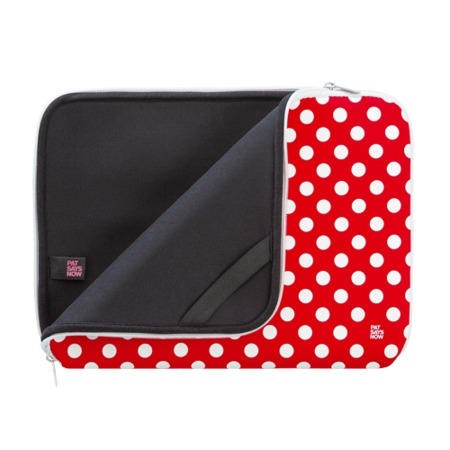 "Pat Says Now 14""-15.6"" Laptop Sleeve - Red Polka"