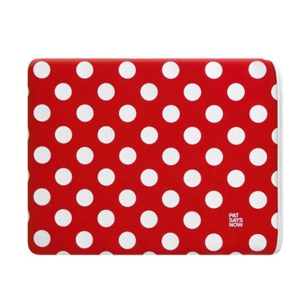 "Pat Says Now 7""-9.7"" Tablet/iPad Sleeve - Red Polka"