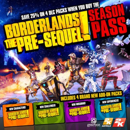 Borderlands The Pre-Sequel Season Pass PC Game