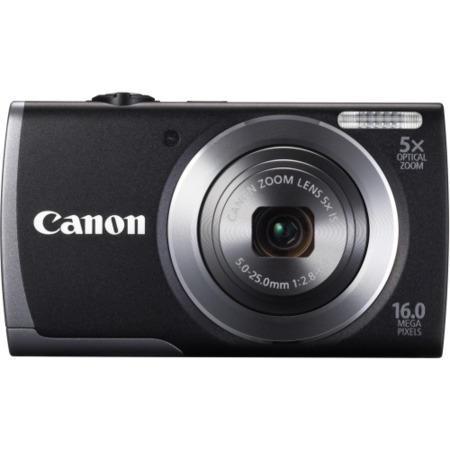 Canon Powershot A3500 16MP Digital Camera and 8GB SD Card and Case Kit - Black